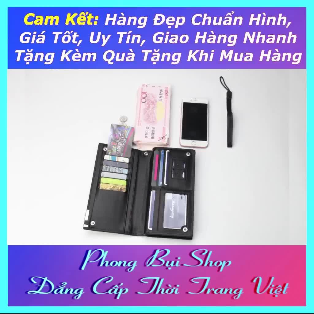 Ví Dài Nam Cao Cấp Hàn Quốc Hai Ngăn Riêng Biệt Chất Da PU Đẹp Size 20 PB002 Ví Nam Cao Cấp Có Video