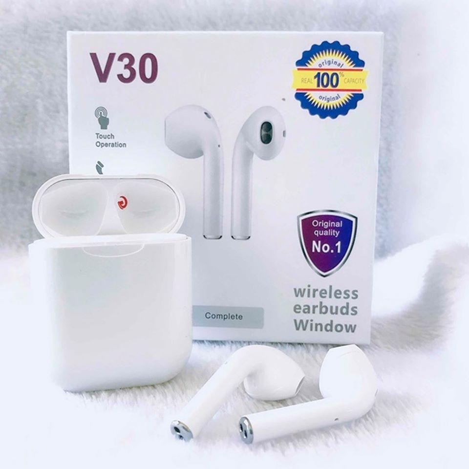 Tai nghe Bluetooth V30 5.0 kiểu dáng Airpods