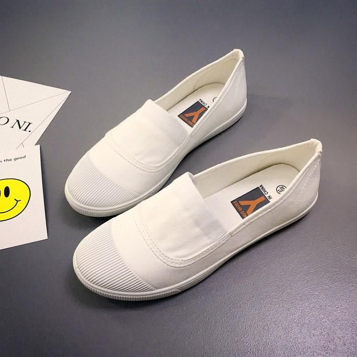 [Mã SKAMCLU7 giảm 10% tối đa 50K đơn 0Đ] Giày lười vải nữ cao cấp - Giày lười trơn - Vincent shop
