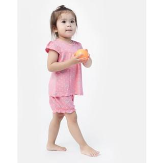 Bộ sơ sinh ngắn tay bé gái Hồng Rabity 0040