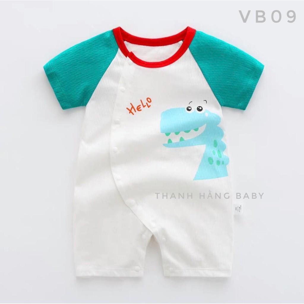 Bộ Body Cho Bé, Body Đùi Bé Trai Bé Gái Cotton Mùa Hè Thanh Hằng Baby 5 Đến 13 Kg