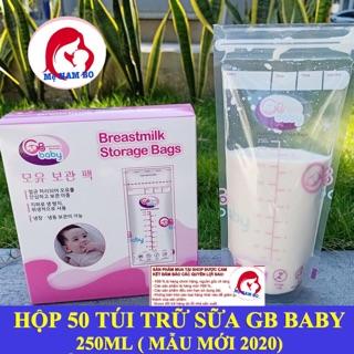 Túi Trữ Sữa GB Baby 250ml ( Hộp 50 Túi)- Mẫu Mới 2020 thumbnail
