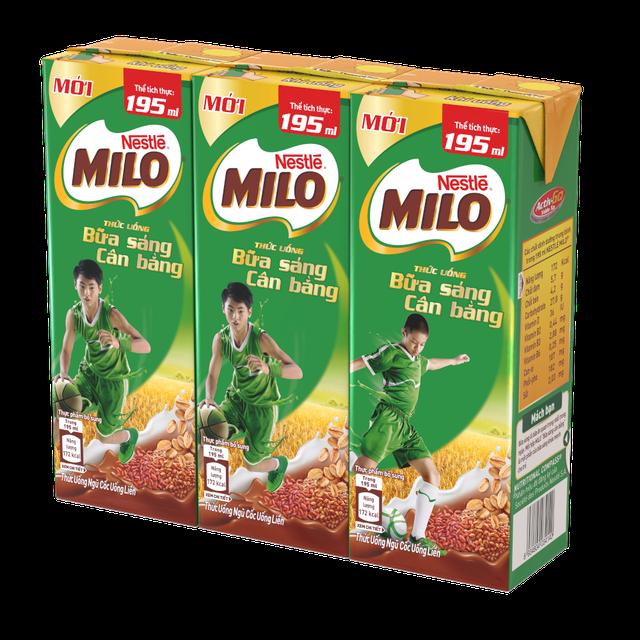 Hình ảnh Thùng 30 hộp sữa ngũ cốc Nestle Milo 195ml-1