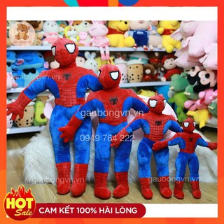 Gấu Bông Người Nhện FREESHIP Gối Ôm Spider Man Cao Cấp Mềm Mịn - Gấu Hút Chân Không thumbnail