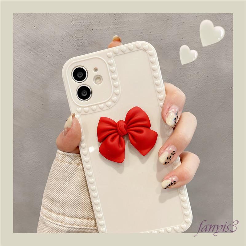 IPHONE 12 11 PRO MAX 12 MINI SE 2020 XS MAX XR X XS 7 8 PLUS ỐP ĐIỆN THOẠI HỌA TIẾT NƠ XINH XẮN CHO