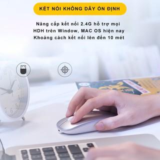 Hình ảnh Chuột không dây Bluetooth tự sạc pin SIDOTECH M1P không tiếng click sạc 1 lần dùng 1 tuần cho Laptop macbook PC Tivi-4