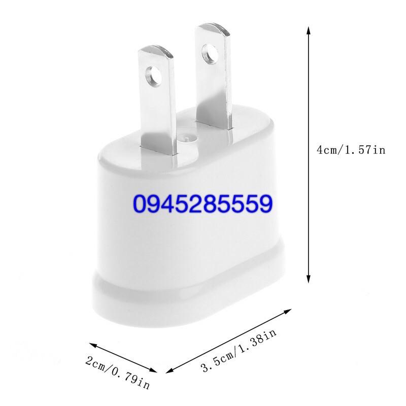 jack phích điện chuyển chân tròn sang chân dẹt cao cấp(trắng)