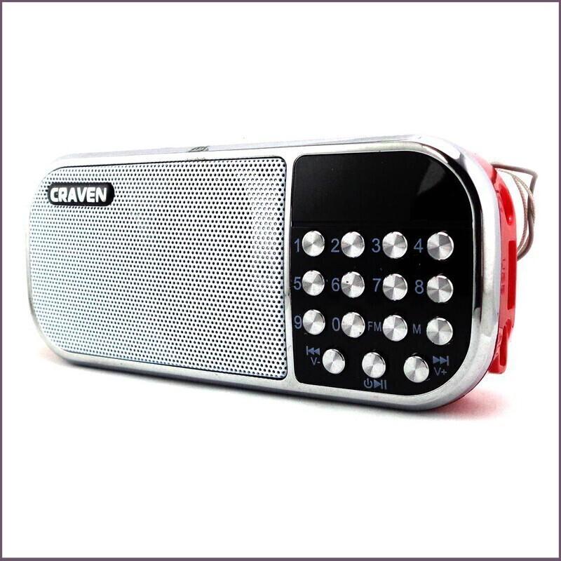 [Giá Hủy Diệt] Bộ loa nghe nhạc USB Craven CR-22 (Đỏ) và Thẻ nhớ 8GB Giá chỉ 248.750₫
