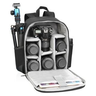 Balo ba lô máy ảnh Caden D6 size nhỡ chống sốc máy ảnh HÌNH THẬT form cứng