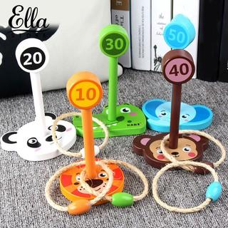 ELLA ® Cartoon Animal Indoor Outdoor Good Children Piling Ring Throw Circle Game Toy Set