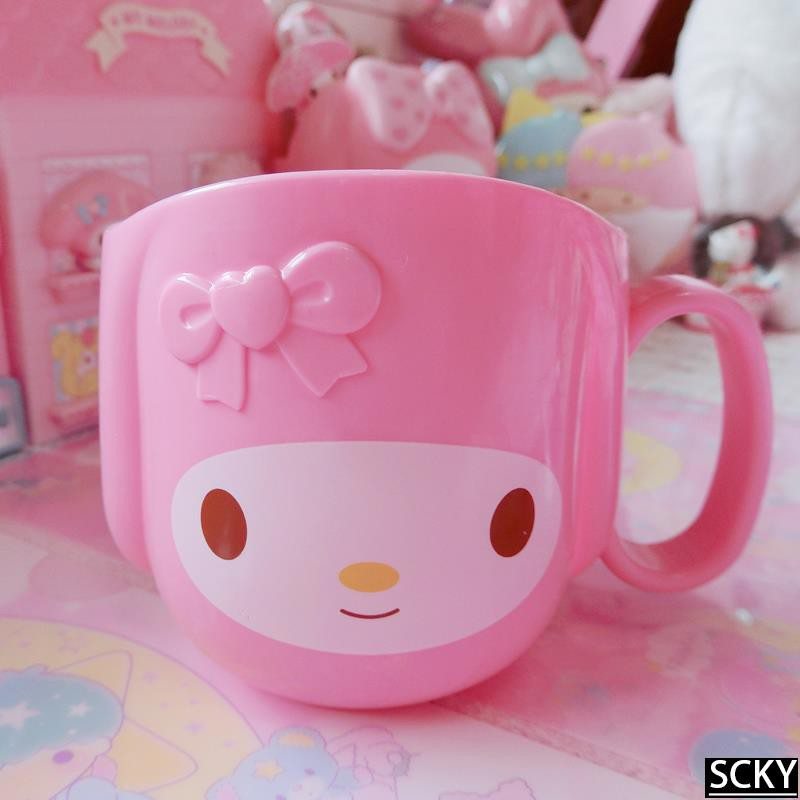 ★Melody cute styling mug plastic handle light and washable w