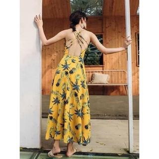 Váy Maxi Hở Lưng Đan Dây Hàng Đẹp