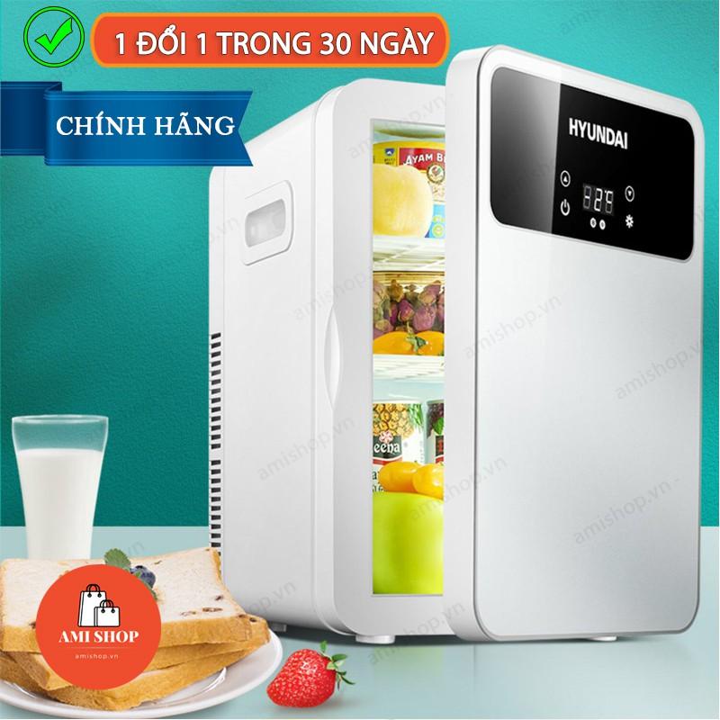 Tủ Lạnh Mini Hyundai Chính Hãng-Màn Led Cảm Ứng, Nóng Lạnh 2 Chiều, Bảo Quản Mỹ Phẩm, Sữa Cho Bé - Dùng Được Cho Xe Hơi