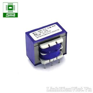 Biến áp 220V-12V (5W-415mA) có chân hàn PCB
