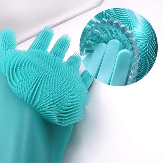 Bao tay silicon đa năng 230k/cặp ( miếng rửa chén và bao tay tích hợp)