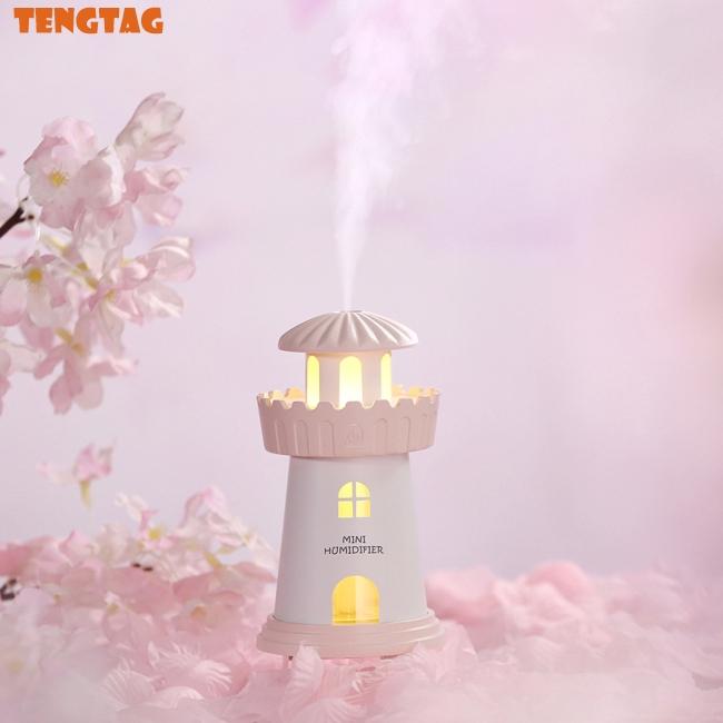 Máy phun sương tạo ẩm mini hình ngọn hải đăng ( sạc USB )