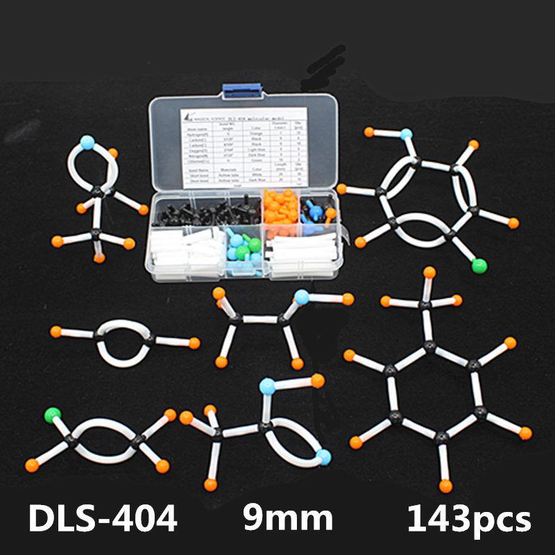 Mini Organic Chemistry Molecular Model realia Small tube for Students 143pcs/Kit