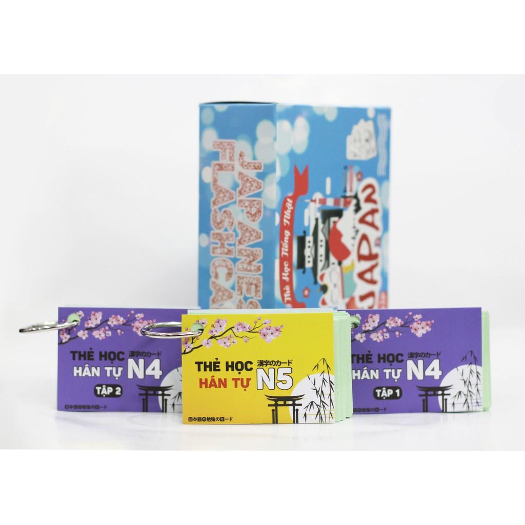 Thẻ Học Hán Tự Tiếng Nhật N4 - N5 - Flashcards Kanji Sơ Cấp (Tái Bản Mới Nhất)
