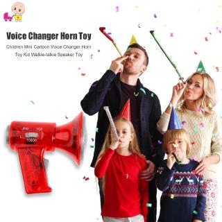 ♘Ready Stock♘ Children Mini Cartoon Voice Changer Horn Toy Kid Walkie-talkie Speaker Toy