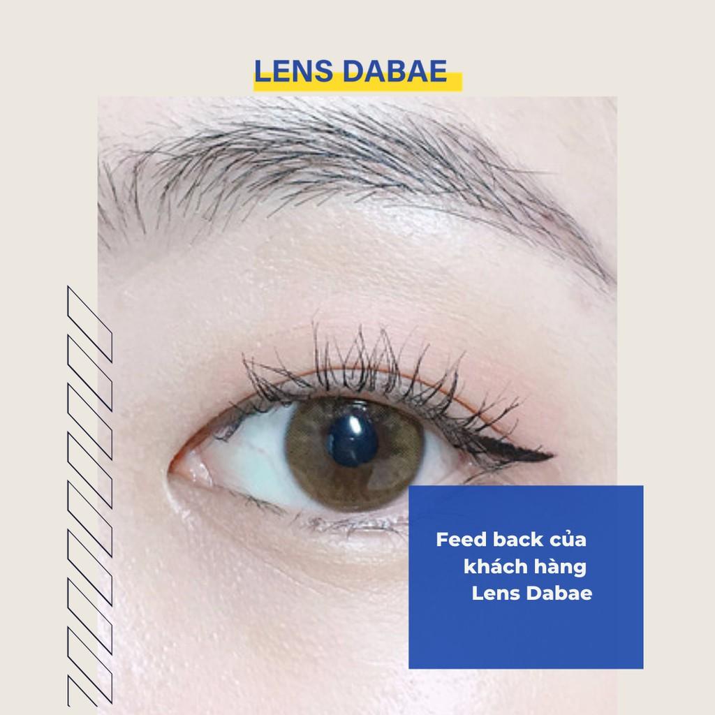 kính áp tròng cận Hàn Quốc lens nâu tự nhiên áp tròng YOUNG LONG BROWN nâu trà sữa DABAE |...