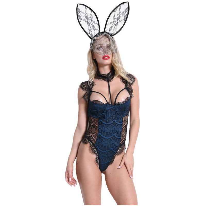 Bộ Đồ Lót Liền Thân Hóa Trang Thỏ Plus Size S-xl