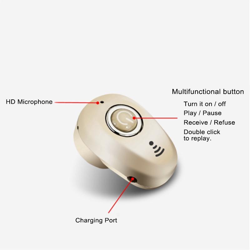 Tai nghe mini Bluetooth 5.1 S650 âm thanh nổi chất lượng cao