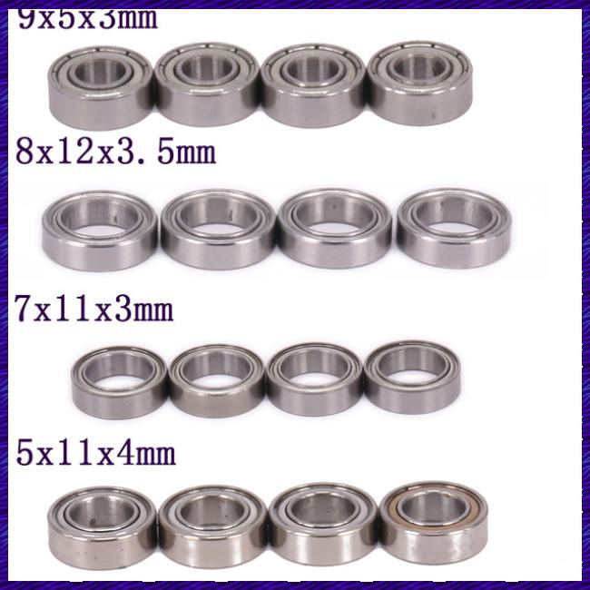 4PCS Ball Bearing 9x5x3mm 8x12x3.5mm 7x11x3mm 5x11x4mm for Rc Hobby Model Car 1-12 Wltoys 12428 12423 Parts 0092 0093