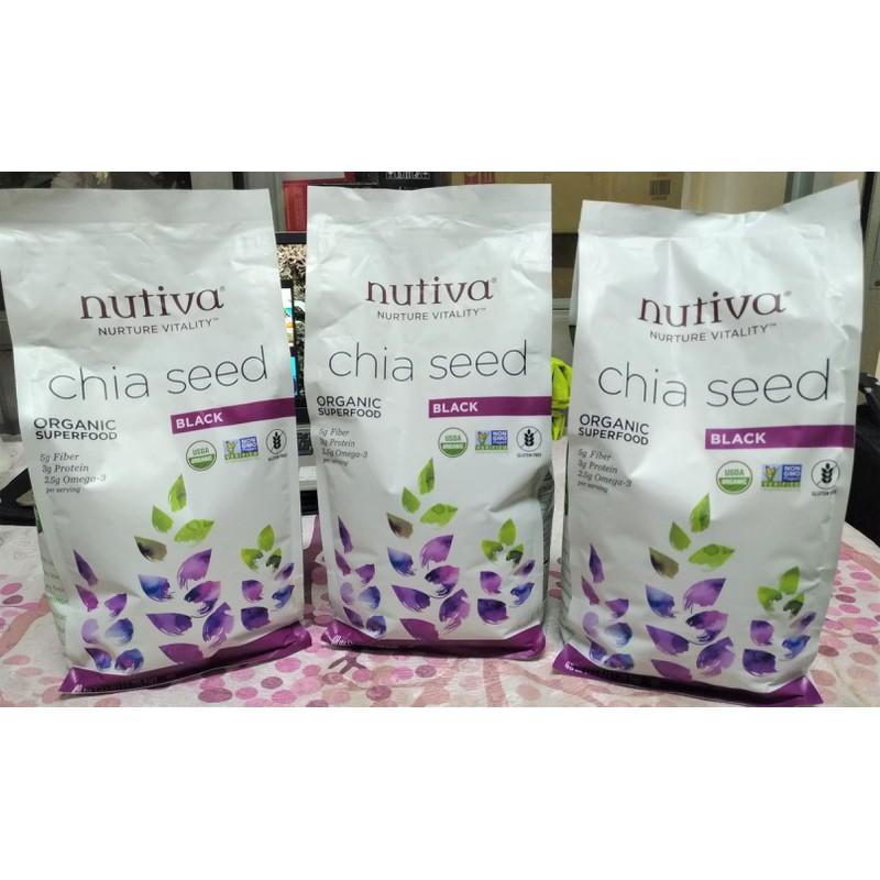Hạt Chia Nutiva Organic Chia Seed chính hãng của Mỹ (907gr)- Hàng Air Hạt Chia Nutiva Organic Chia Seed chính hãng của Mỹ (907gr)- Hàng Air