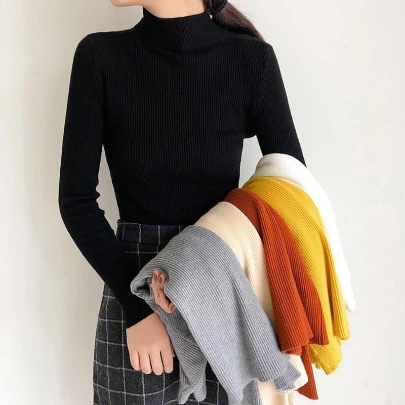 Áo len ôn body cổ 3 phân hàng đẹp