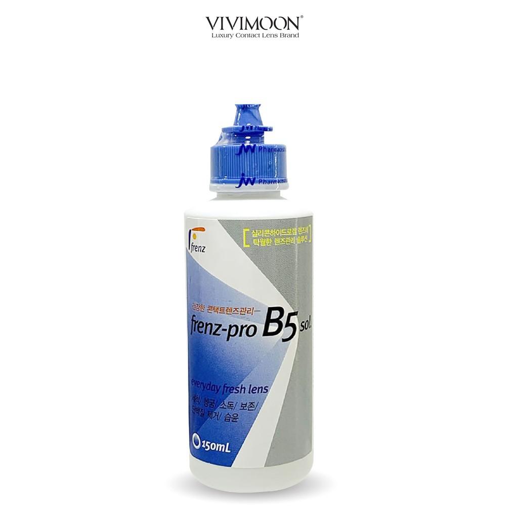 [kho sẵn sàng] Nước ngâm lens Hàn Quốc VIVIMOON - nước ngâm kính áp tròng frenz-pro B5 150ml
