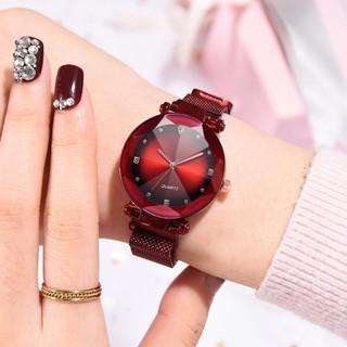 Đồng hồ thời trang nữ đính cườm dây lưới nam châm Cs7u7