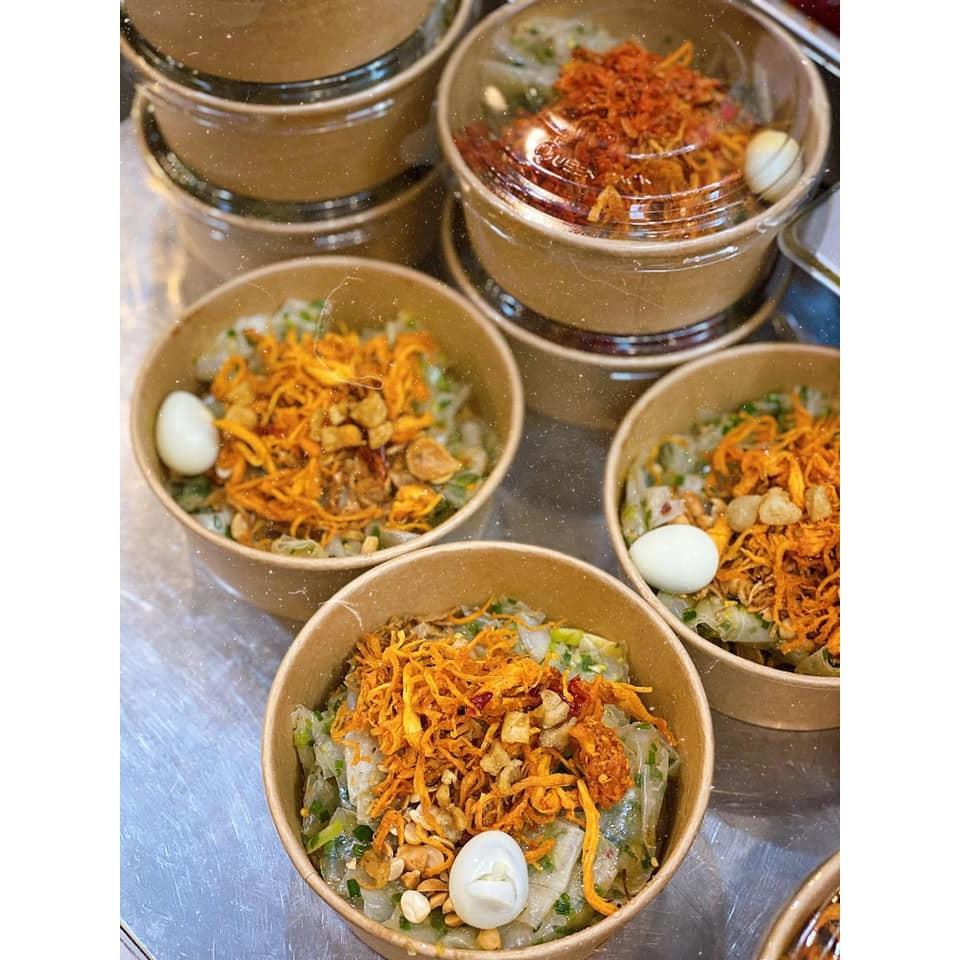 50 Tô giấy kraft chịu nhiệt cao đựng bánh bông lan trứng muối, cơm, bánh, hủ tíu, phở, sữa chua, bánh tráng,750ml 1000ml