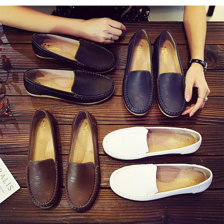 Giày lười nữ, mọi nữ da PU cao cấp - SP46 Citashoes