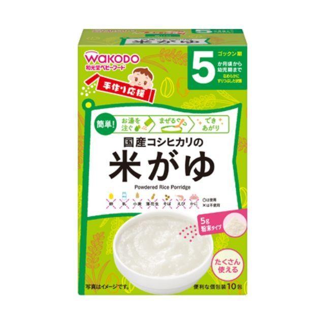 Bột ăn dặm Wakodo 50g 5m+ Gạo và rau Nhật