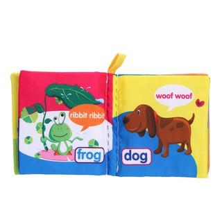 Soft Cloth Book Baby Kid Children Early Educational Cartoon Book Toys Kids Newborn Crib Bed Baby