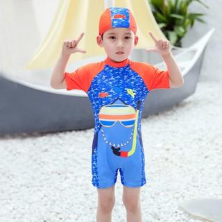 Bộ Đồ Bơi Liền Thân Ngắn Tay Xinh Xắn Dành Cho Bé Trai thumbnail