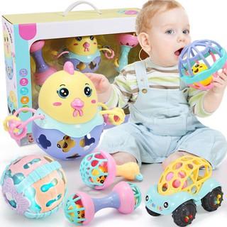 Xúc xắc 6 món đồ chơi -Đồ chơi giáo dục cho trẻ sơ sinh 0-3-6-12 tháng tuổi – Hộp Đựng Đẹp thích hợp làm quà tặng