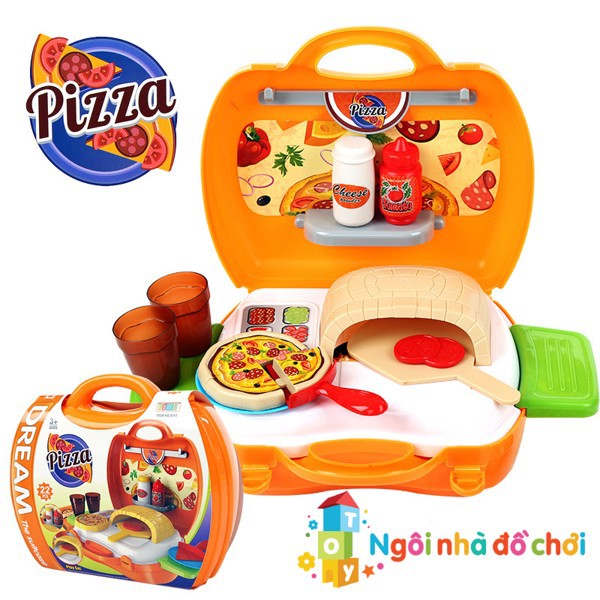 Đồ hàng vali Bowa làm bánh Pizza 8313