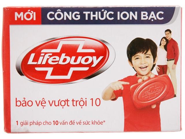 Xà bông cục Lifebuoy bảo vệ vượt trội công thức ion bạc 90g