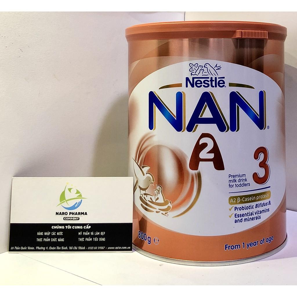 [CÓ NHÃN NK]Sữa Nan A2 Số 3 Dạng Bột (800G) (Từ 12 tháng tuổi)
