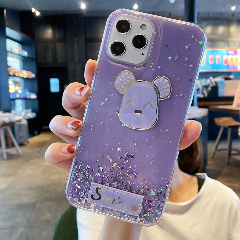 Casyva Casing Xiaomi Redmi S2 K40 K30 K20 Pro 5A 4X Note 6 5 Pro 4 4X Star Glitter Cartoon...