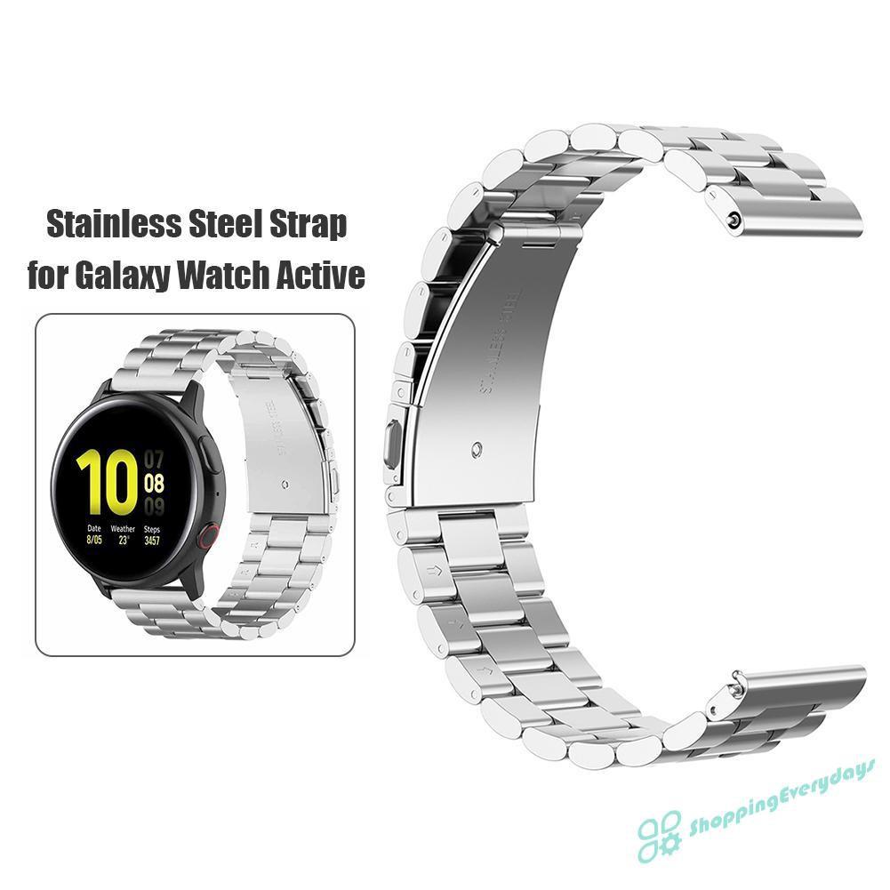 Dây Đeo Kim Loại 20mm Cho Đồng Hồ Thông Minh Samsung Galaxy Active 2 40 / 44mm