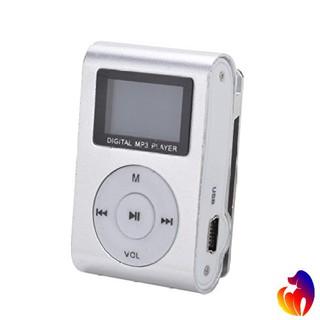 Máy nghe nhạc Mp3 mini màn hình LCD hỗ trợ đọc thẻ nhớ đến 32Gb màu bạch kim sang trọng