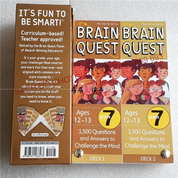 Bộ Thẻ học Brain Quest cho trẻ từ 12-13 tuổi