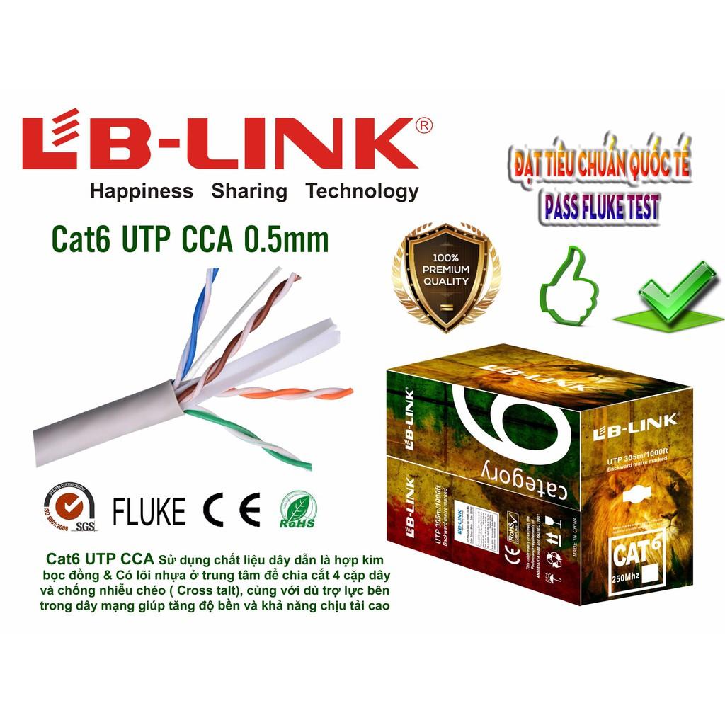 Google [linh kiện] cáp mạng LB-LINK  cáp 6E UTP CCA 0,5mm (305m) cáp dây trắng [máy tính] aidien2017