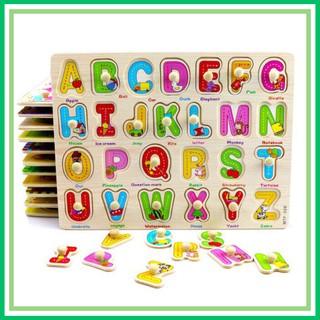 [TẶNG QUÀ] Đồ chơi ghép hình bảng núm gỗ ghép hình,bảng chữ cái núm gỗ, chữ số và nhiều chủ đề (mua 10 tặng 1 bút chì)