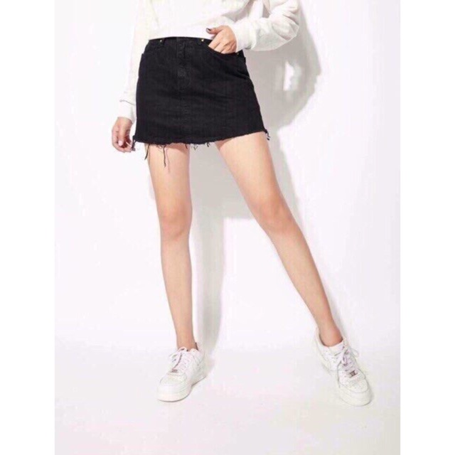 Chân váy kaki jean ( kèm quần trong )