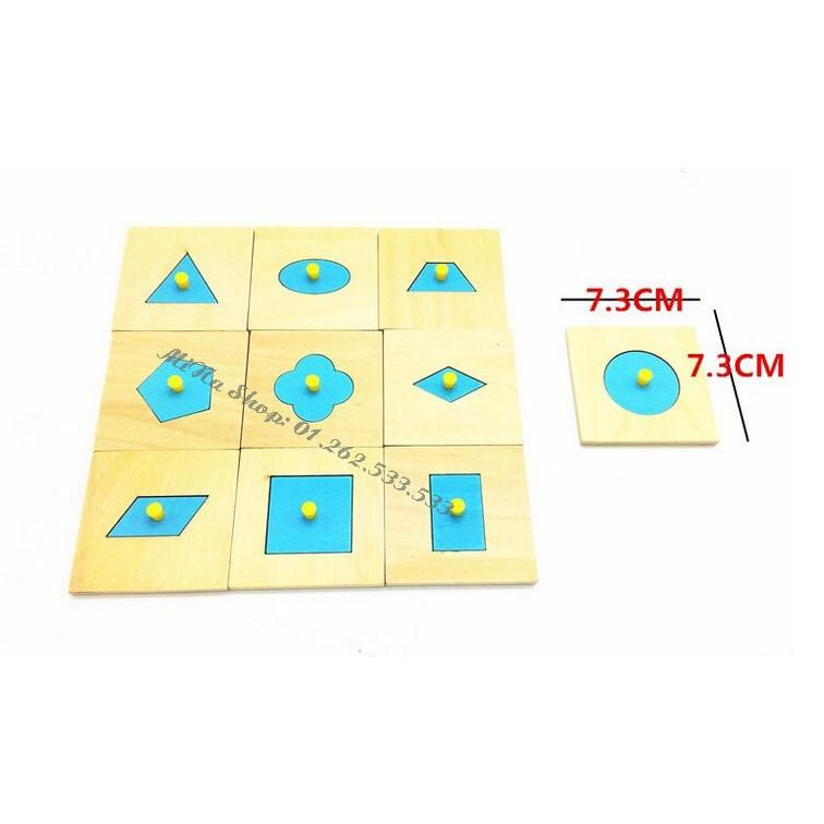 Bộ Núm hình khối - Giáo cụ Montessori