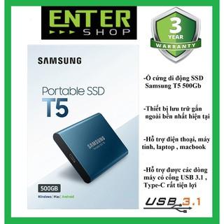 Ổ cứng di động SSD Samsung T5 500Gb Usb 3.03.1 Type-C