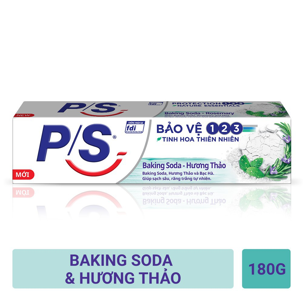 Kem đánh răng P/S Bảo Vệ 123 Baking Soda - Hương Thảo 180g